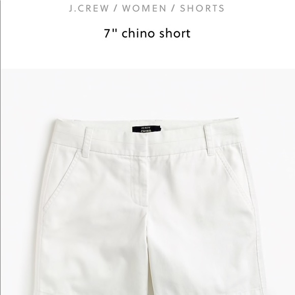 huge sale discount shop best online J Crew 7 inch white chino shorts NWT